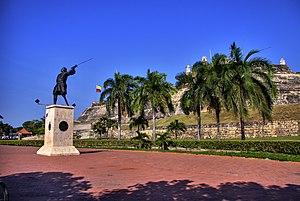 Blas de Lezo - Blas de Lezo Statue in Cartagena de Indias
