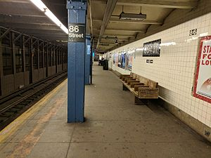 86th Street (IND Eighth Avenue Line) - Uptown platform