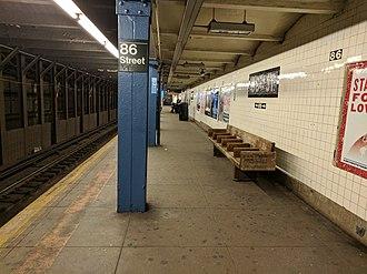 86th Street (IND Eighth Avenue Line) - Uptown platform