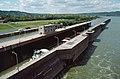 87i113 tow departing Markland Locks (7396087718).jpg