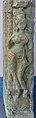 8th - 9th century pillar woman carving, Hindu temple ruins Sirpur Chhattisgarh 4.jpg