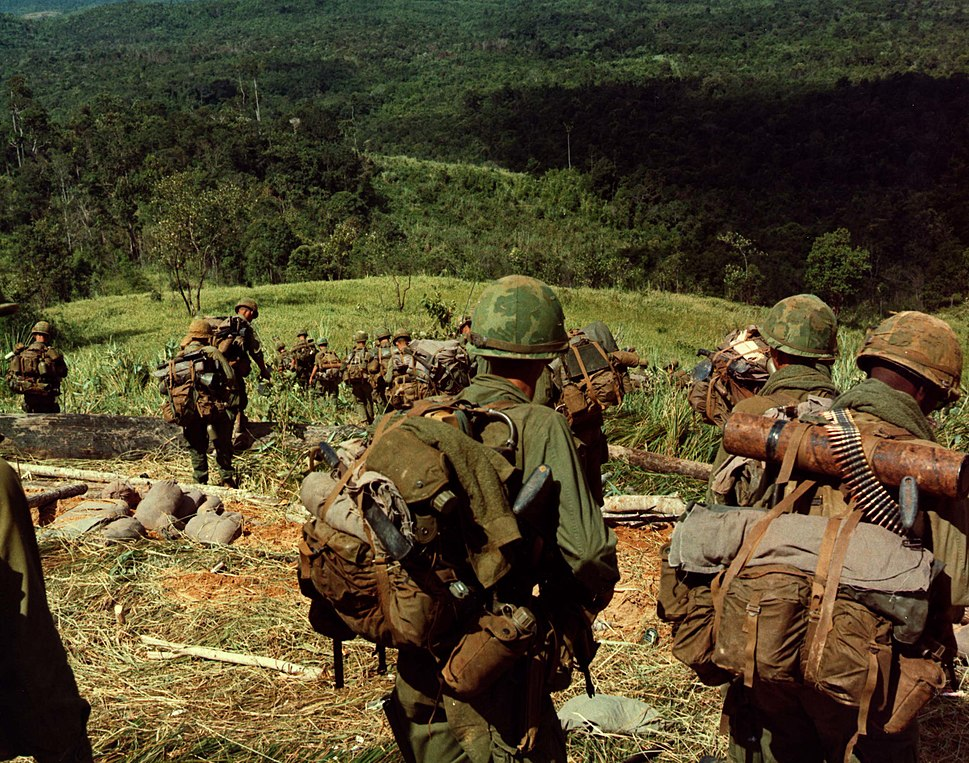 8th Infantry Rgt. descending Hill 742 during Operation MacArthur 1967-11