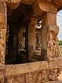 8th century Durga Surya temple exterior ruined stone carvings, Aihole Hindu temples monument.jpg