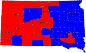 United States Senate election in South Dakota, 1996 - Image: 96SDSenate Counties