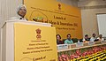 A.P.J. Abdul Kalam addressing at the inauguration of the National Conference of 'Bank of Ideas and Innovations', in New Delhi. The Union Minister for Rural Development, Road Transport & Highways and Shipping.jpg