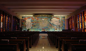 United States Air Force Chaplain Corps - The Catholic Chapel in the Air Force Academy Cadet Chapel.
