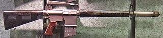 AR-10 v národním muzeu střelectví (USA)