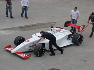 Indy Lights - 2008 Firestone Indy Lights car during testing at the Homestead-Miami Speedway.