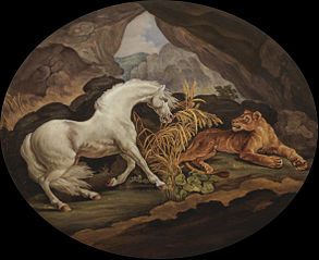 A Horse Frightened by a Lione