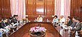 A delegation led by the Director General, Border Guard Bangladesh (BGB,) Major Gen. Aziz Ahmed calling on the Union Home Minister, Shri Rajnath Singh, in New Delhi. The Secretary, Border Management, Smt. Sneh Lata Kumar.jpg