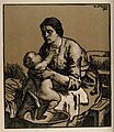 A woman washing her baby. Woodcut after W. Strang, 1904. Wellcome V0015097.jpg