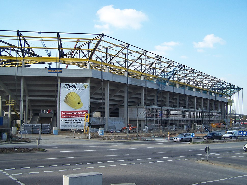 Aachen Tivoli under construction