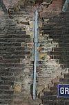 aanzicht gevel met oorspronkelijk muurwerk en secundaire klamp - schiedam - 20338100 - rce