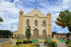 Igreja Matriz de Nossa Senhora da Saúde, localizada no centro de Abaíra.