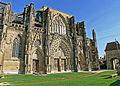 Abbatiale de Saint-Antoine-l'Abbaye - Parvis, façade occidentale, portails et porte.JPG