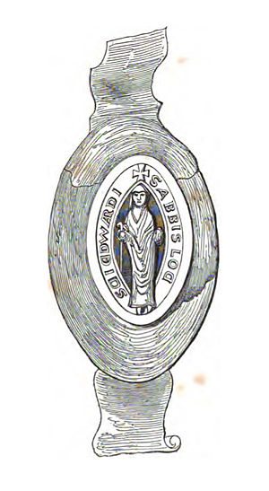 Thomas Stevens (monk) - The seal of the abbots of Netley. Thomas Stevens would have used this to authenticate official documents as abbot.