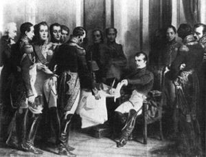 Napoléon Bonaparte's abdication