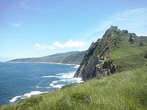 Acantilados del Monte Ulía, con el Faro de la Plata y el Jaizkibel de fondo.jpg