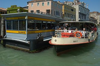 Public transport - Water taxi (vaporetto) of Venice, Italy