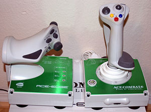 "Ace Combat 6: Fires of Liberation XBOX360-joystick opcional ""Ace Edge"""