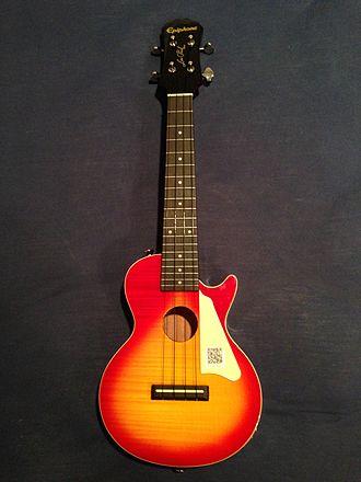 Electric ukulele - An acoustic/electric Epiphone Les Paul ukulele