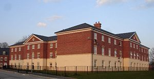 Acton, Wrexham - Acton Hall, rebuilt in modern materials in 2005