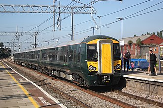 British Rail Class 387 - Great Western Railway 387150 arrives in Acton Main Line