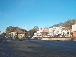 Downtown Adairsville, including original train depot used in the Great Chase