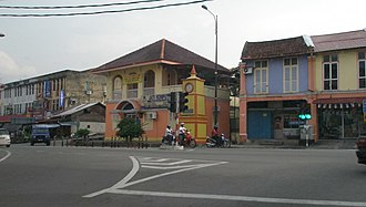 Masjid Tanah - Middle of Masjid Tanah town with its historic clock tower, called the Big Ben. A local team in the 1970s also carried the same name.