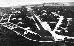 Luganville Airfield - Image: Aerial view of Luganville Airfield, Espiritu Santo