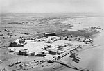 Aerial view of the RAF flying boat base at Korangi Creek, near Karachi, India, July 1945. CI1456.jpg