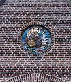 Afbeelding in muur van de Paterskerk in Rekem (deelgemeente) van Lanaken provincie Limburg in België 01.jpg