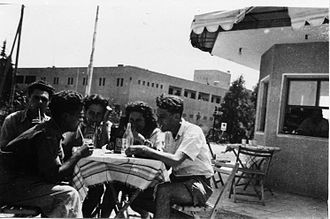 Afula - Members of Yiftach Brigade from Beisan on leave in Afula. 1948