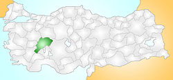 Location of Emirdağ within Turkey.