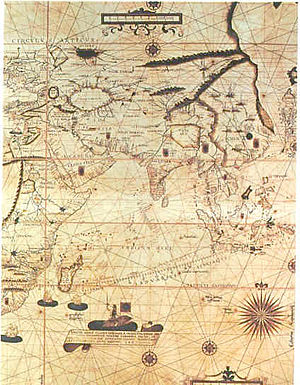 Captain-major - A historic map from the Age of Exploration, showing Southeast Asia