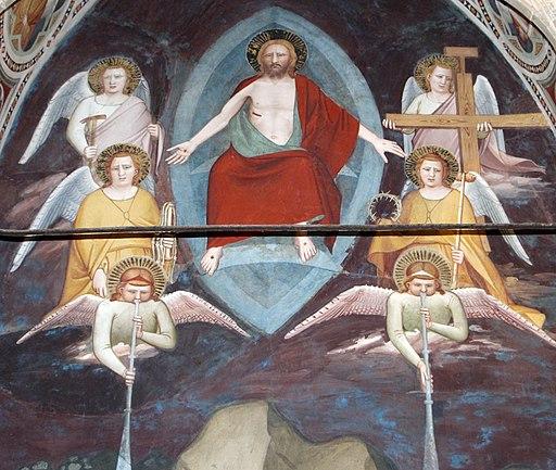 Maso di Banco, Giudizio finale e Bettino de' Bardi inginocchiato, Cappella Bardi di Vernio, Basilica di Santa Croce, Firenze