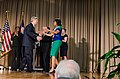Agriculture Secretary Tom Vilsack welcomes First Lady Michelle Obama to the U.S. Department of Agriculture (USDA) in Washington, D.C. on Friday, May 3, 2013.jpg