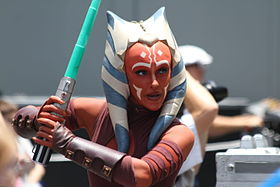 Cosplay d'Ahsoka dans la série Star Wars: The Clone Wars.