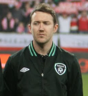 Aiden McGeady - McGeady lining up for the Republic of Ireland in 2013