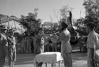 Arjan Singh - Arjan Singh, C.O. of No. 1 Squadron IAF, being handed command during World War II.