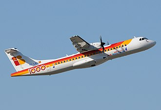 Air Nostrum - Air Nostrum ATR 72-600  in the former livery, with special titles celebrating it as the 1000th aircraft built by ATR