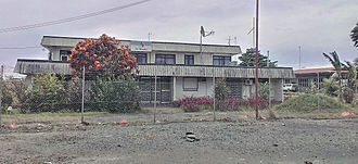 Lae Airfield - Photo of original Air Niugini terminal at old Lae airfield. Taken 29 January 2014