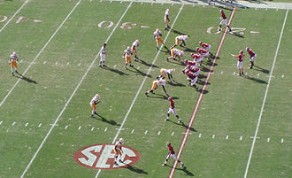 Alabama Crimson Tide football - Alabama on offense versus Tennessee in Tuscaloosa during the 2009 season
