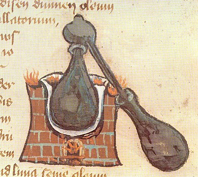 Picture of an alembic from a medieval manuscript Alambik1.jpg