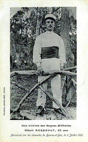 Albert Aernoult - Postcard of Albert Aernoult published after his death,