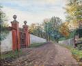 Albert Gottschalk - En gammel haveport. Motiv fra Køgegård - 1894.png