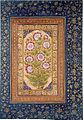 Album page with Stokesia and portrait of Abdul Rahim Khan-e Khanna (6124537863).jpg