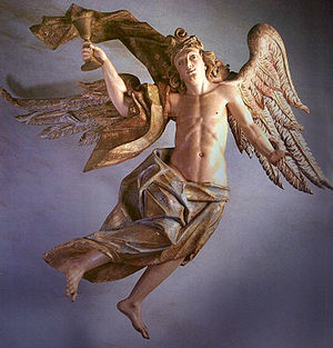 Brazilian art - Aleijadinho: Angel of the Passion, ca. 1799. Congonhas do Campo