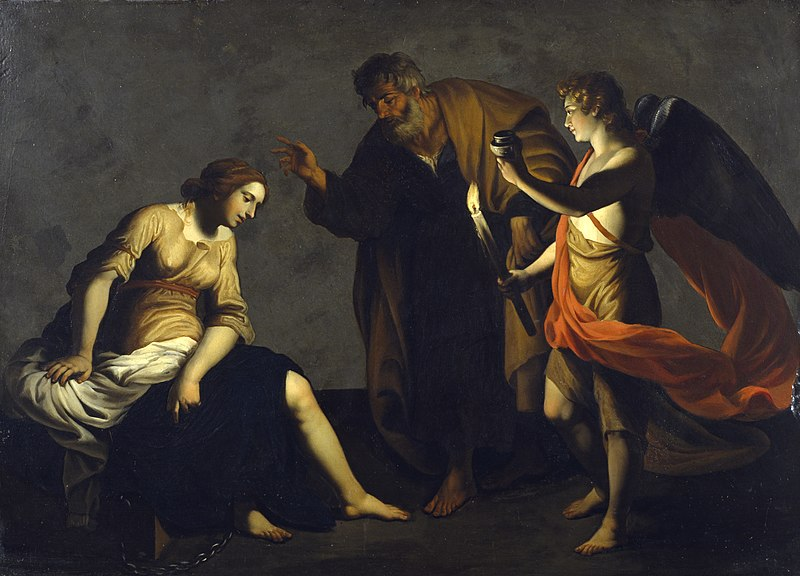 File:Alessandro Turchi - Saint Agatha Attended by Saint Peter and an Angel in Prison - Walters 37552.jpg