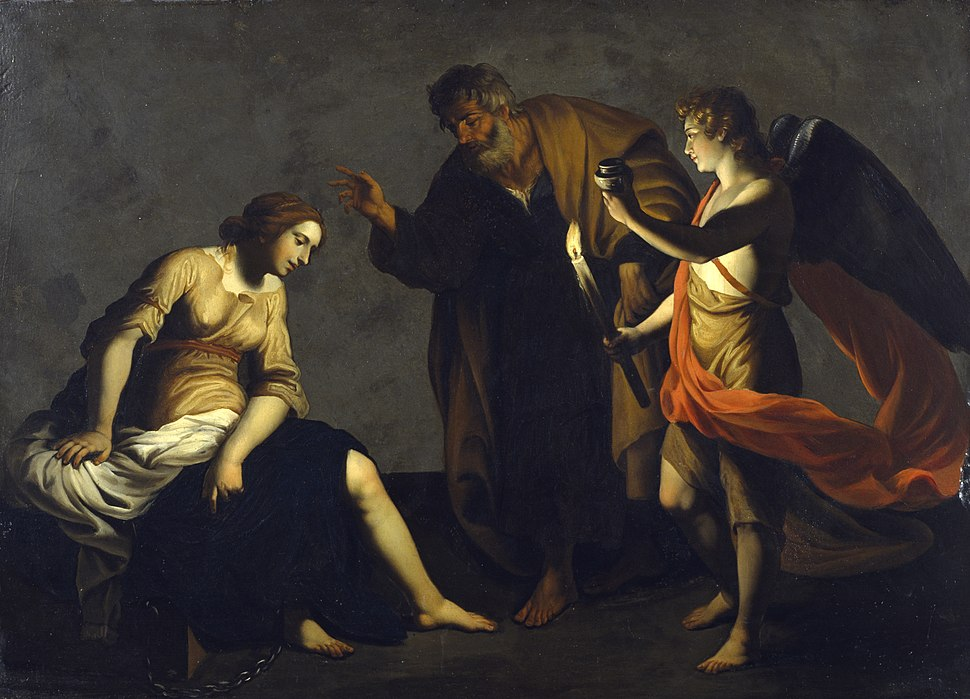 Alessandro Turchi - Saint Agatha Attended by Saint Peter and an Angel in Prison - Walters 37552